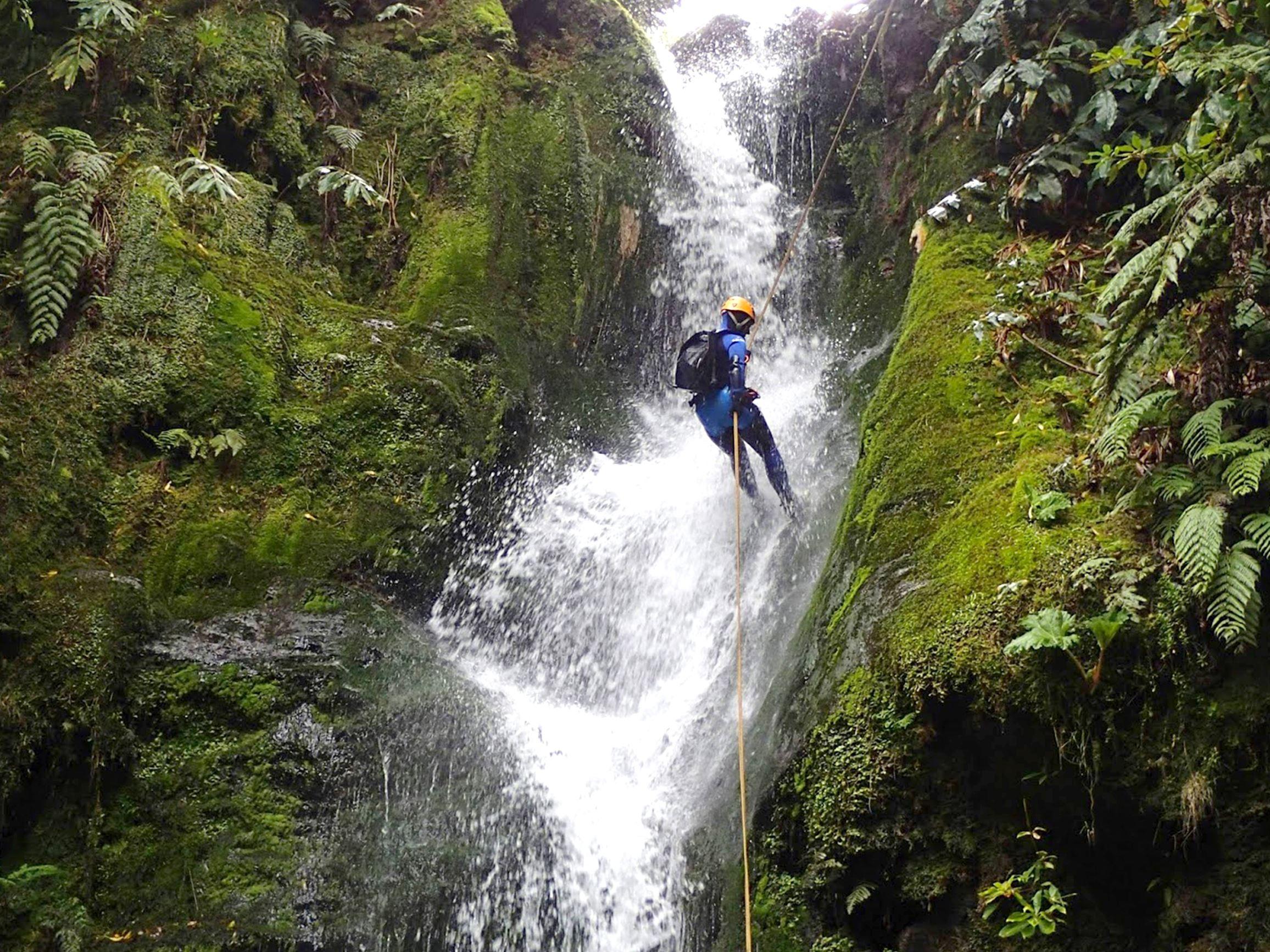 Azores Canyoning in Ribeira dos Caldeirões