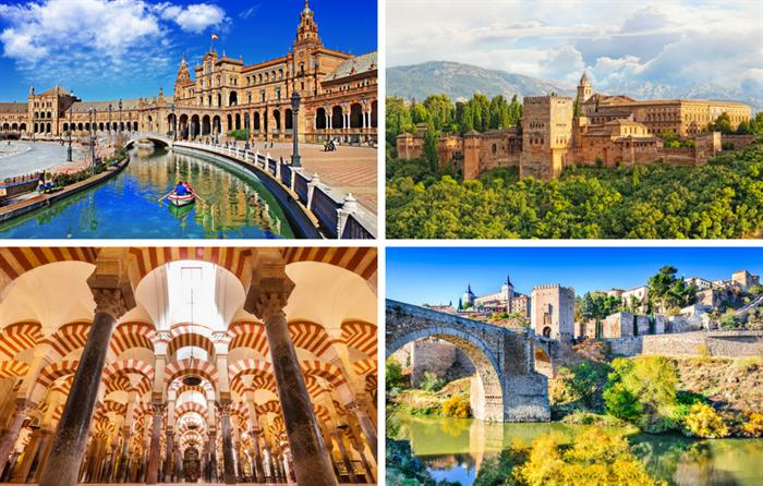 Sevilha, Córdoba, Granada e Toledo de Barcelona - Living Tours
