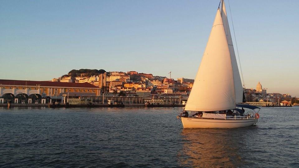 Night on a boat in Lisbon
